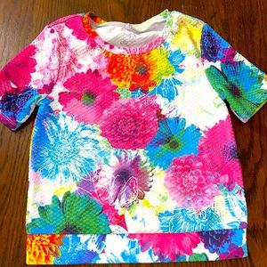 Girls justice floral top